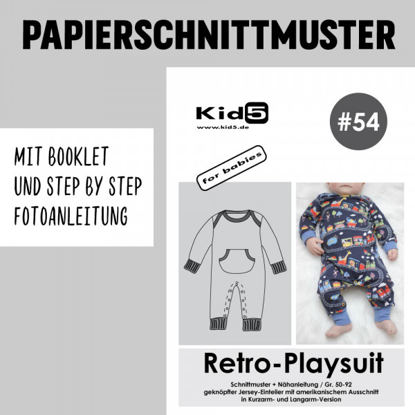 Retro Playsuit Booklet Papierschnittmuster kid5