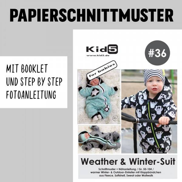 Weather Winter Suit Booklet Papierschnittmuster kid5