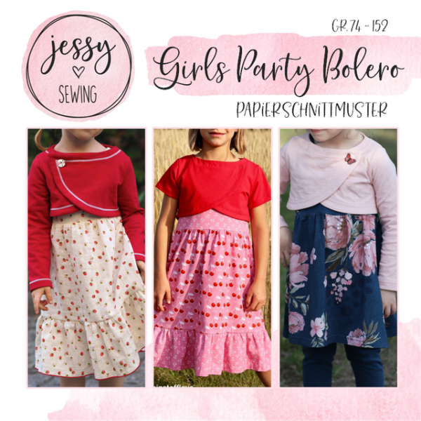 Girls Party Bolero Papierschnittmuster