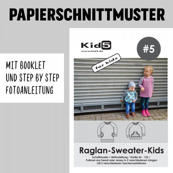 Raglan Sweater Kids Booklet Papierschnittmuster kid5
