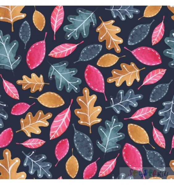 WOODLAND LEAVES Sommersweat Stoffkids