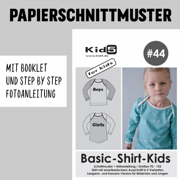 Basic Shirt Kids Booklet Papierschnittmuster kid5
