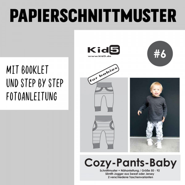 Cozy Pants-Baby Booklet Papierschnittmuster kid5