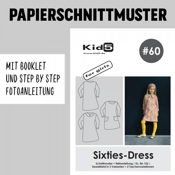 Sixties Dress Booklet Papierschnittmuster kid5
