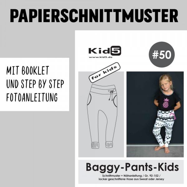 Baggy Pants Kids Booklet Papierschnittmuster kid5