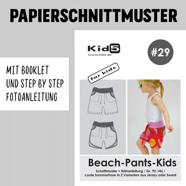 Beach Pants Kids Papierschnittmuster kid5